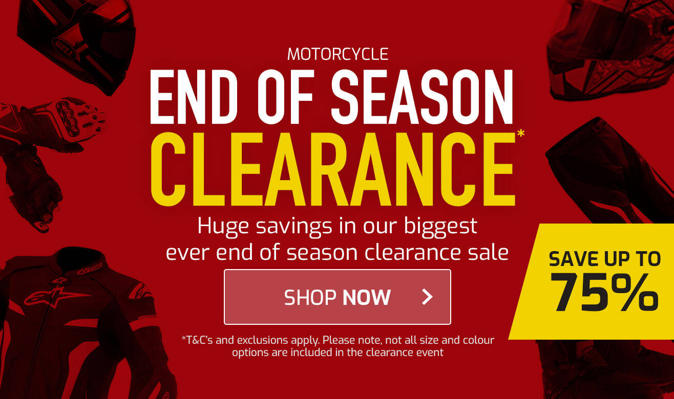 Save up to 75% on End of Season Clearance