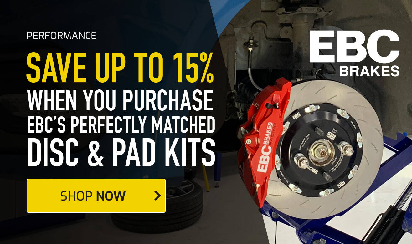 Save up to 15% on EBC Brakes Disc and Pad Kits