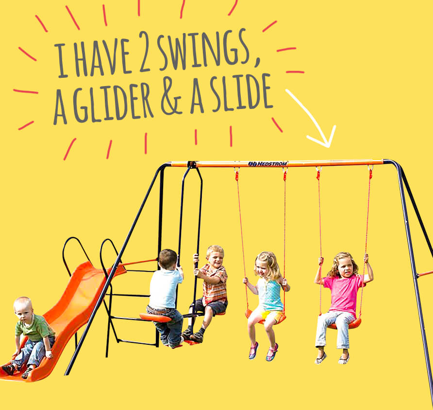 Hedstrom Europa Double Swing, Glider and Slide