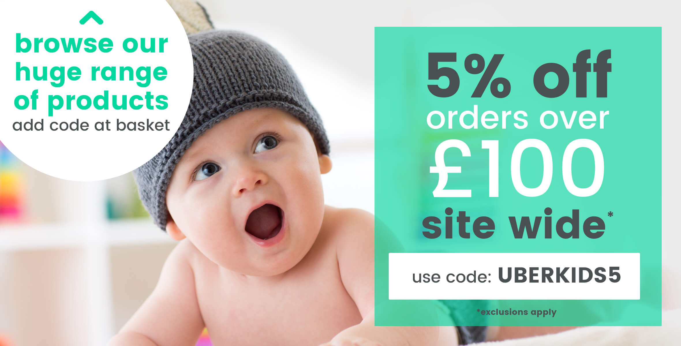 5% Off Orders Over £100