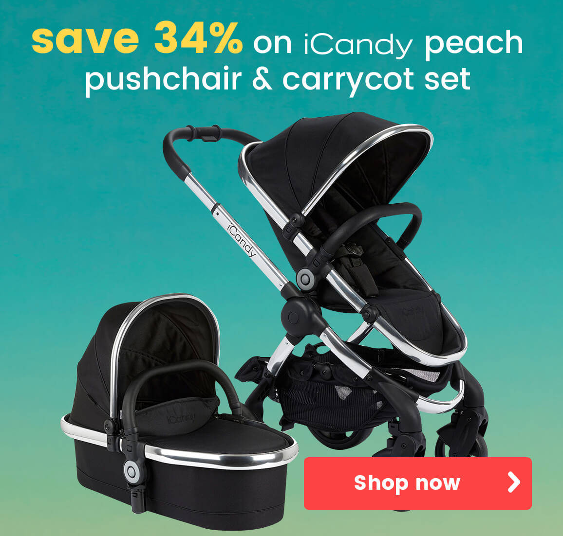 iCandy Peach pushchair and carrycot set
