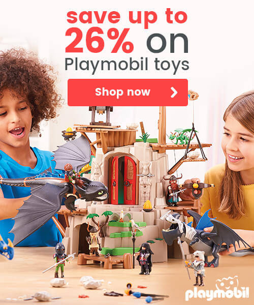 Save up to 26% on Playmobil toys
