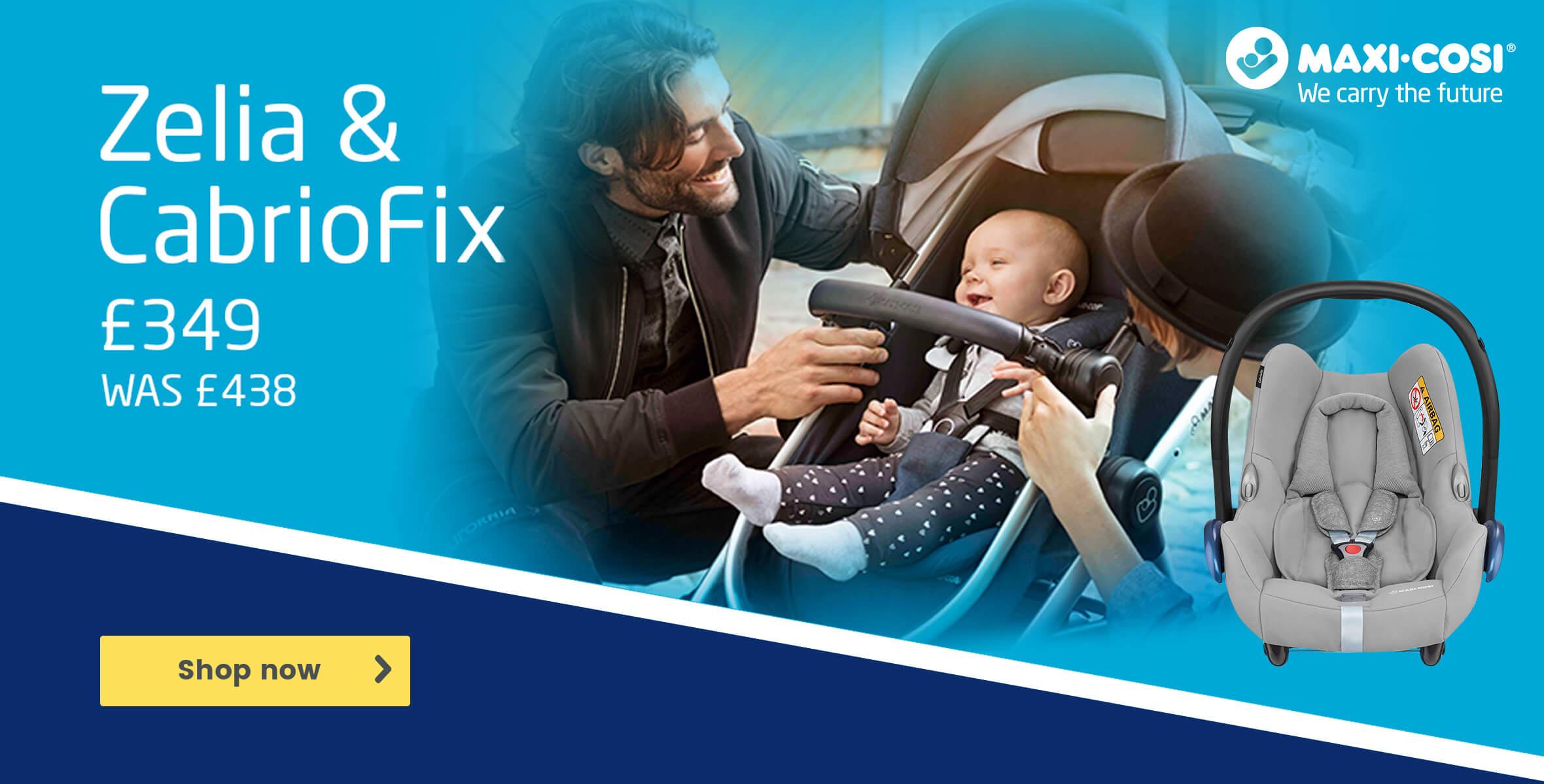 Maxi-Cosi Zelia & CabrioFix Now £349