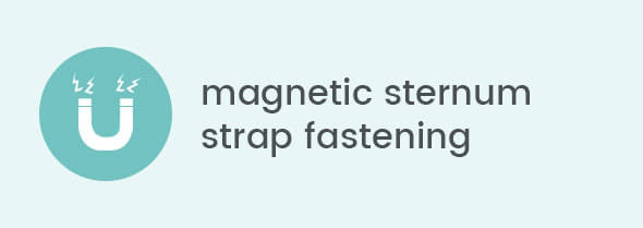 Magnetic sternum strap fastening