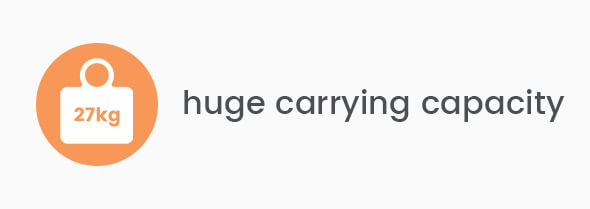 Huge carrying capacity