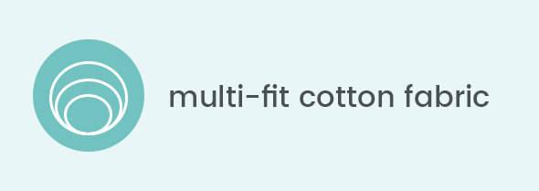 Multi-fit cotton fabric