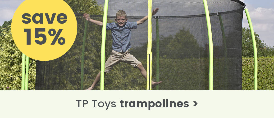 15% off TP Toys trampolines