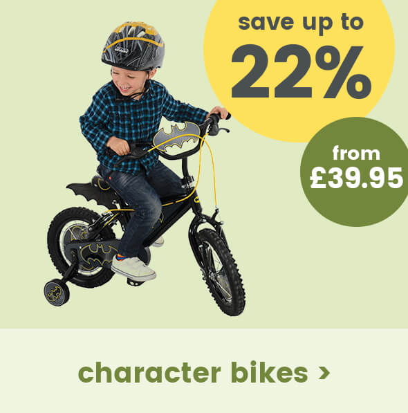 Save up to 22% on Character Bikes
