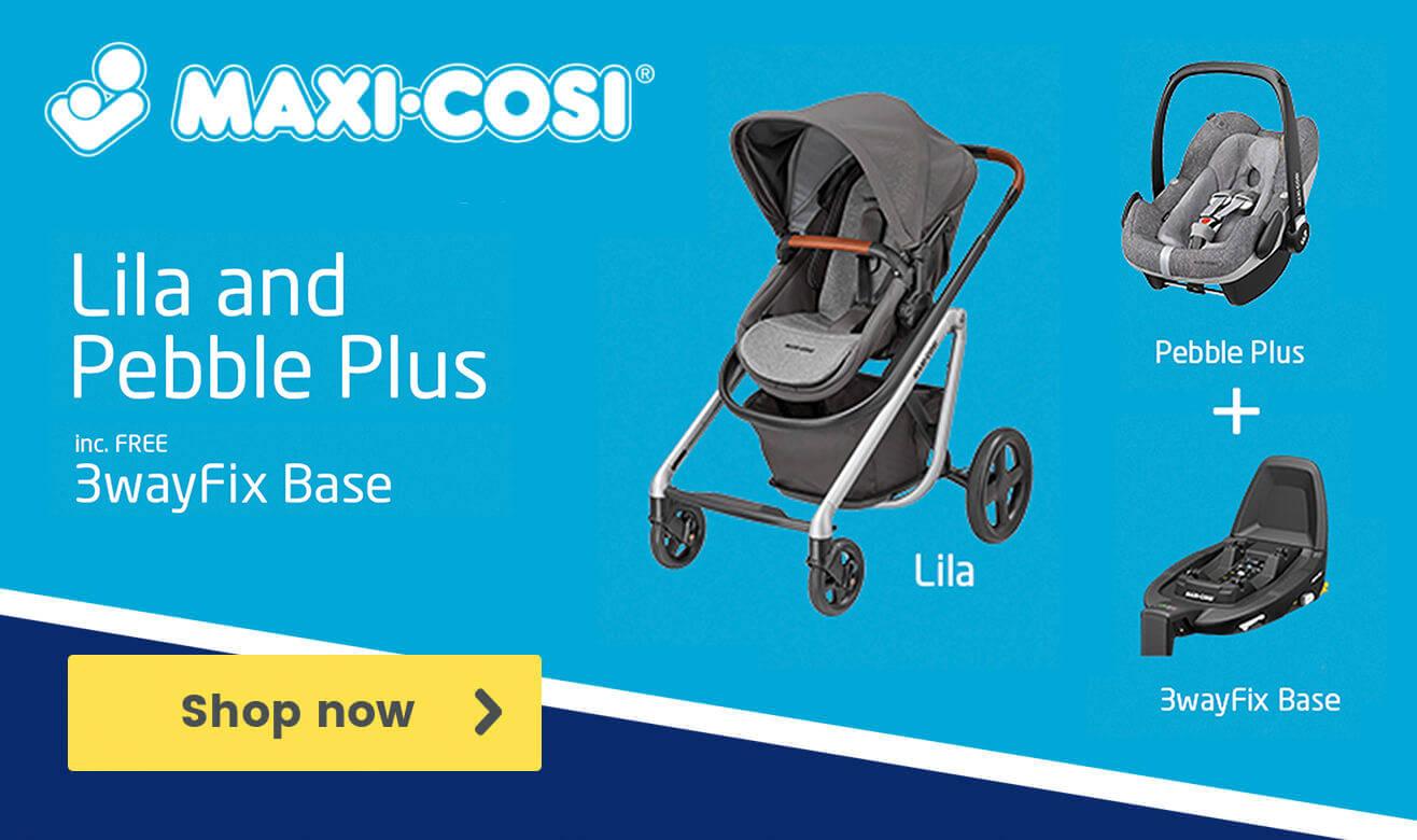Maxi-Cosi Lila and Pebble Plus including Free 3wayFix Base