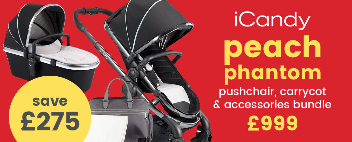 iCandy Peach Phantom puschair, carrycot and accessories bundle