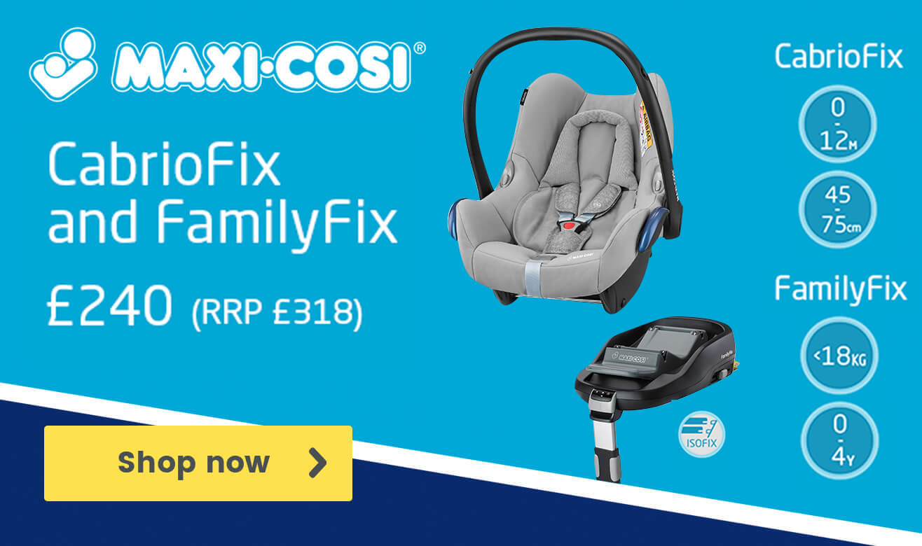 Maxi-Cosi CabrioFix and FamilyFix now £240