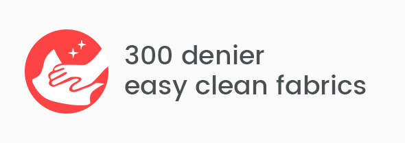300 denier easy clean fabrics