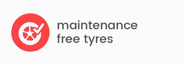 Maintenance free tyres