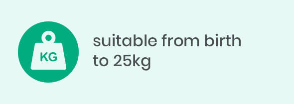 suitable from birth to 25kg