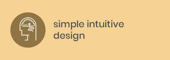 simple intuative design