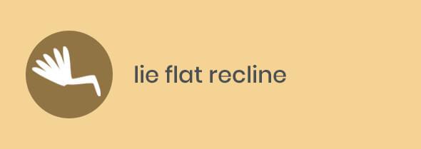 lie-flat recline