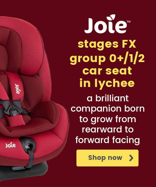 Joie Stages FX Group 0+/1/2 Car Seat in Lychee