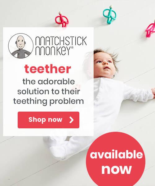 Matchstick Monkey Teether