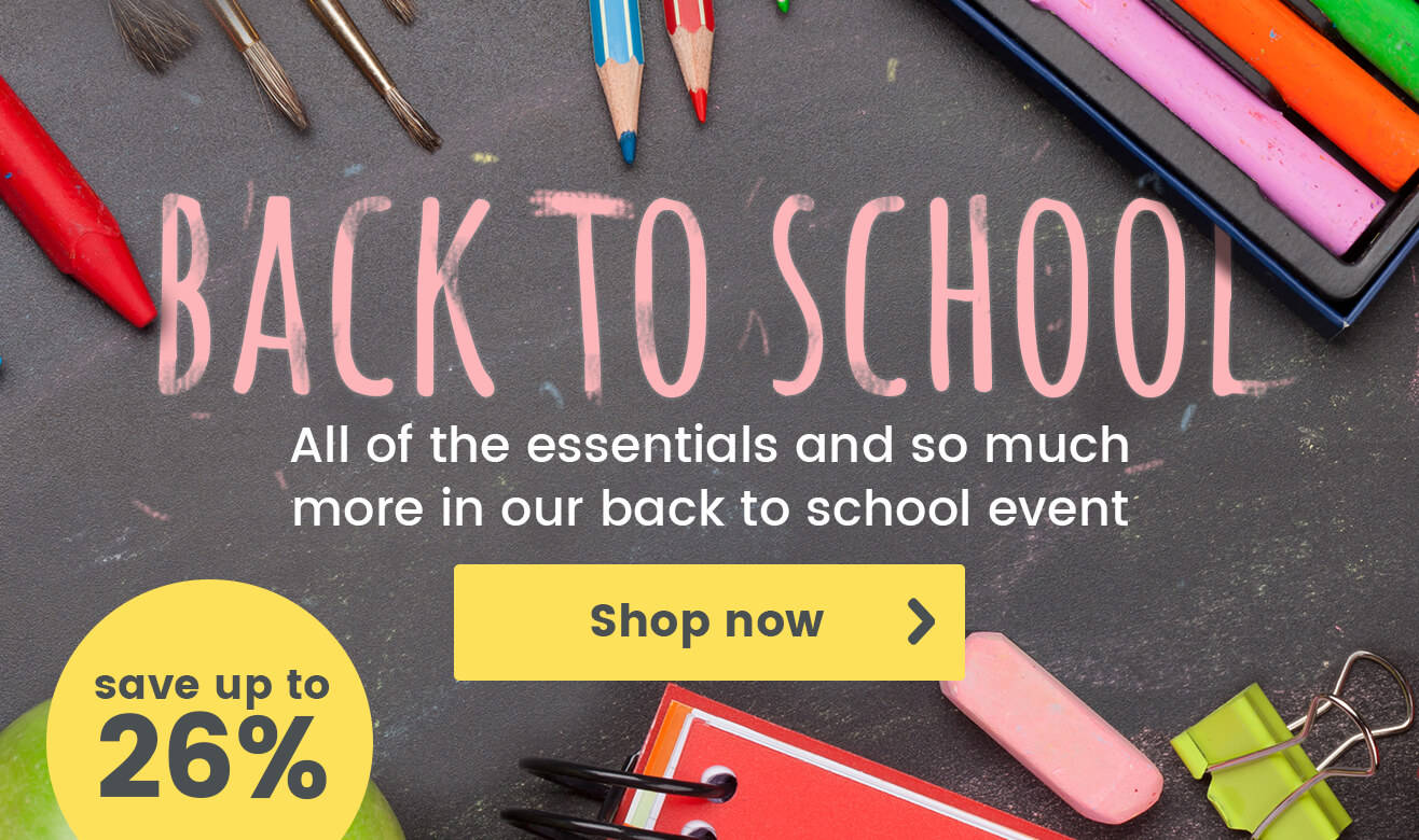 Save up to 26% on Back to School