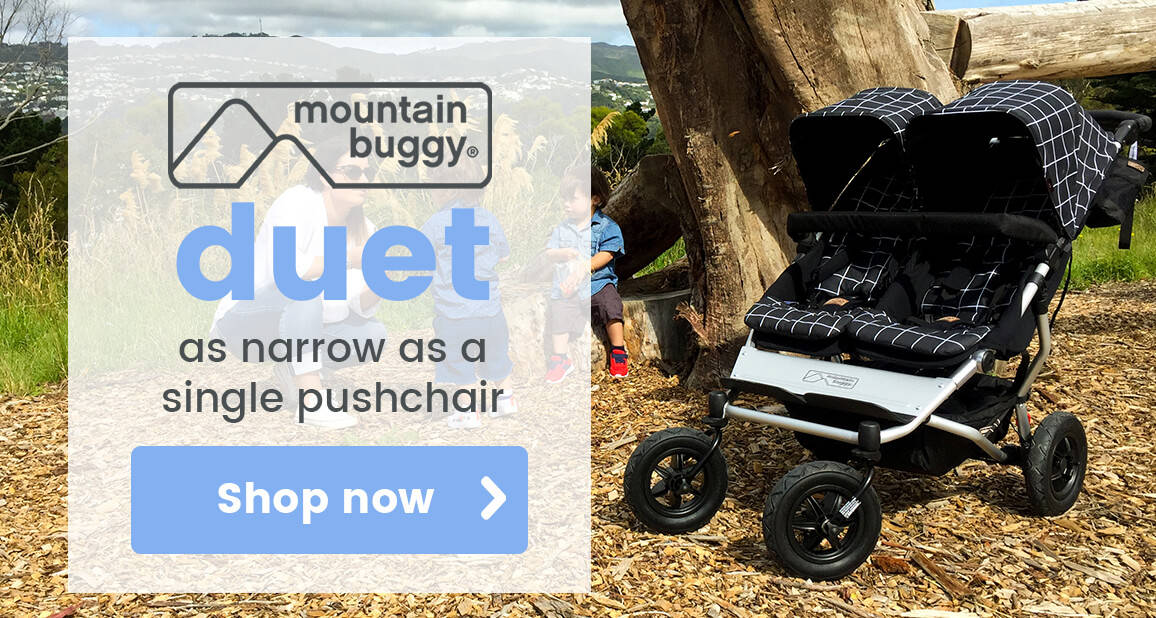 Mountain Buggy Duet - No wider than a single pushchair