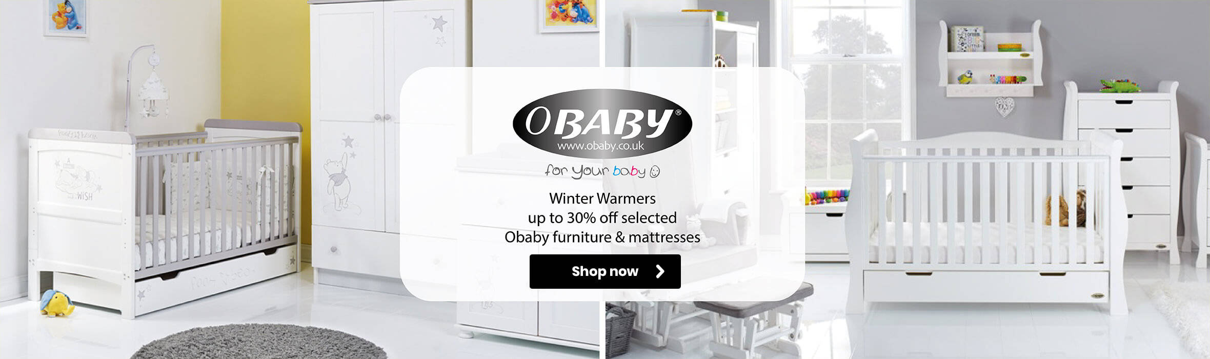 Up to 30% off Obaby winter warmers!