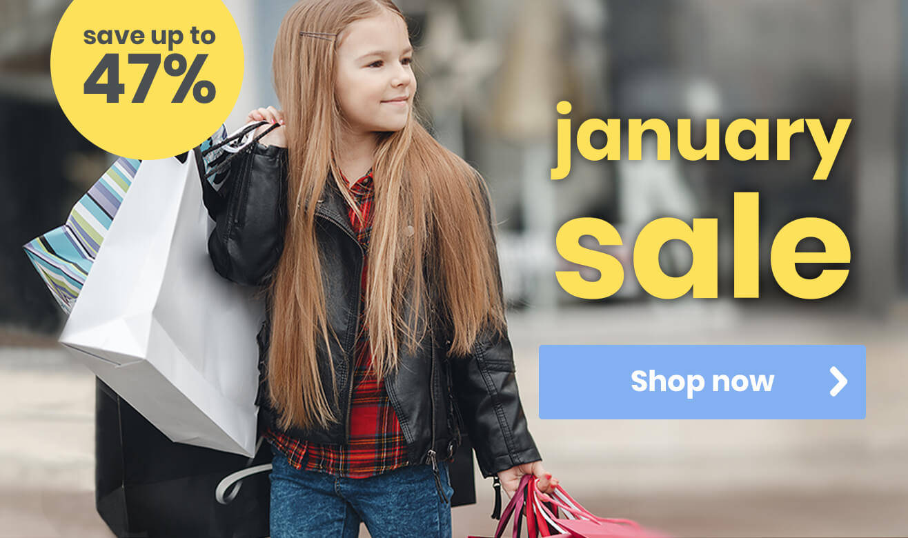 Save Up to 47% in Our January Sale
