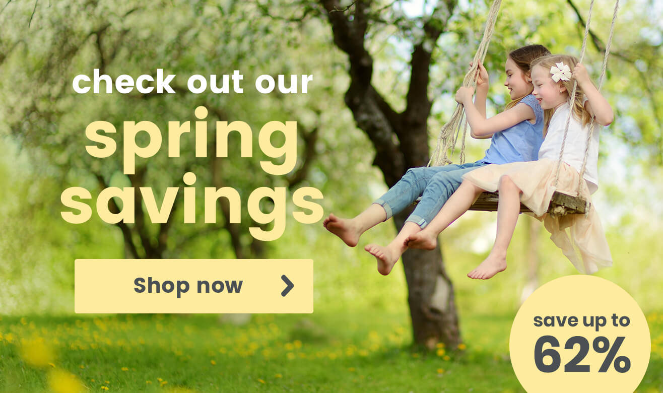 Save Up to 62% With Our Spring Savings