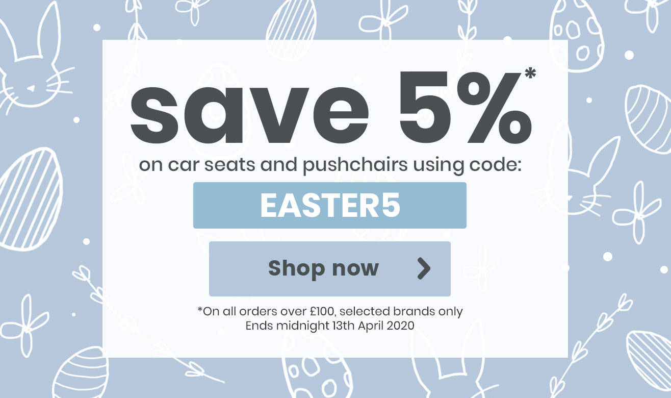 Save 5% on Car Seats and Pushchairs!