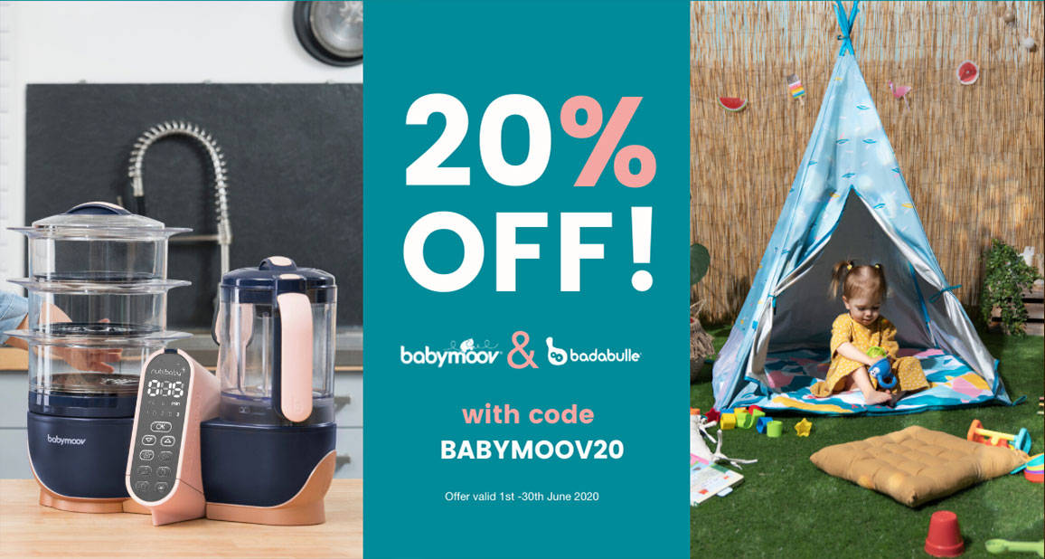 20% off Babymoov and Badabulle