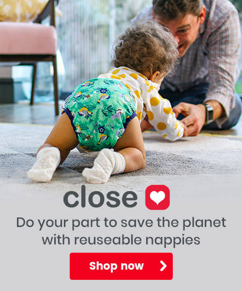 Close - Do your part to save the planet with reuseable nappies