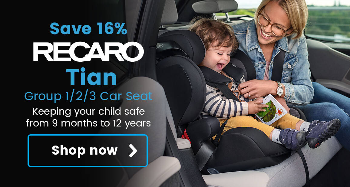 Recaro Tian Group 1/2/3 Car Seat - Keeping your child safe from 9 months to 12 years!