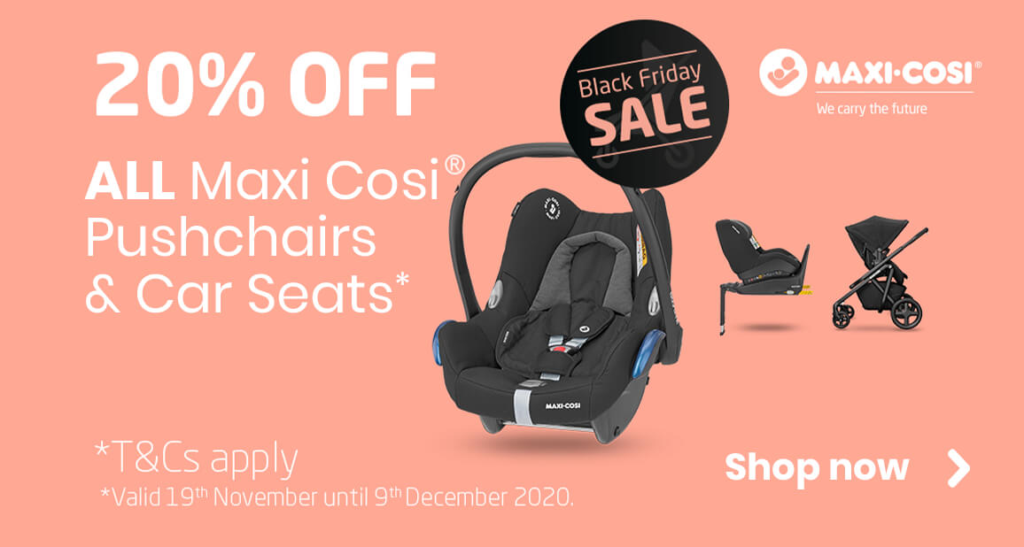 Save a huge 20% across the Maxi-Cosi range!