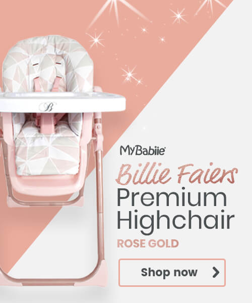 My Babiie Billie Faiers Premium Highchair Rose Gold