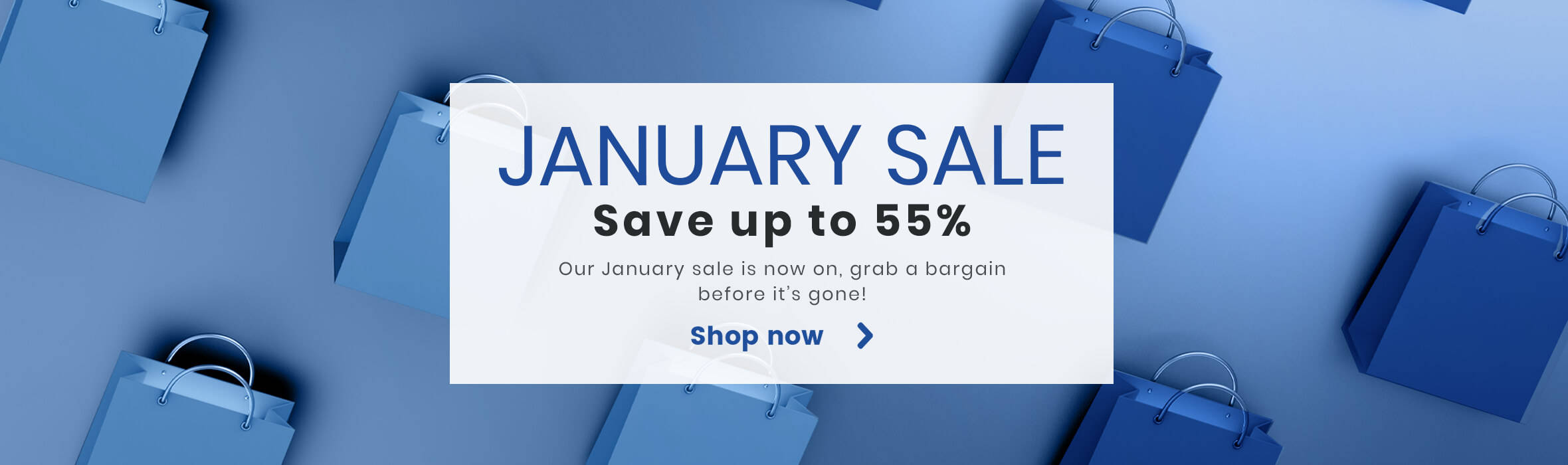 Save up to 55% in our January Sale