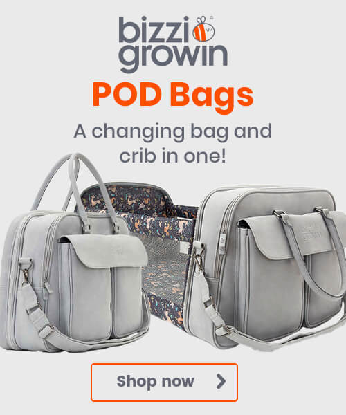 Bizzi Growin POD Bags - A changing bag and crib in one!