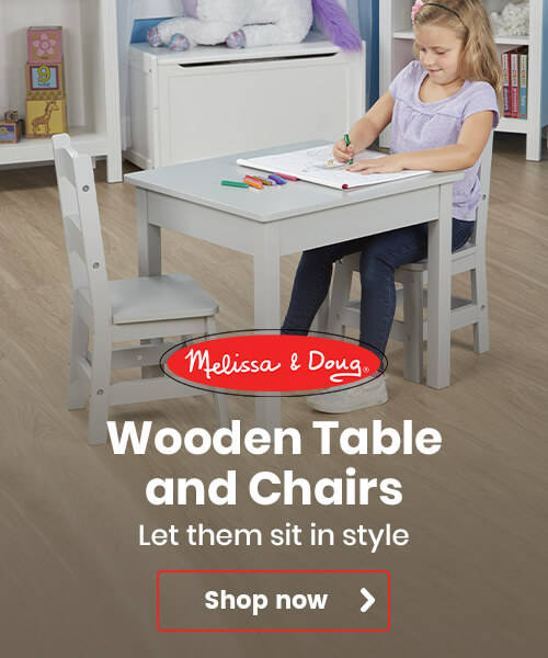 Melissa and Doug Wooden Table and Chairs