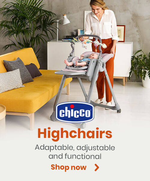 Chicco Highchairs - Adaptable, adjustable and functional