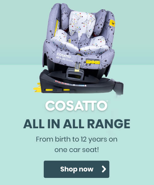 Cosatto All in All Range - From birth to 12 years on one car seat!