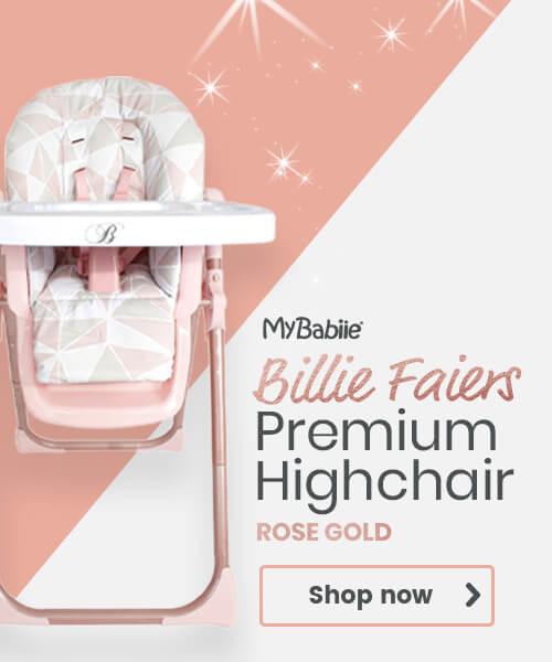 My Babiie rose gold highchair